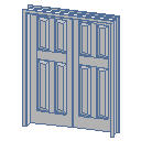 Archicad 11 Library object parts, doors,Double Doo...