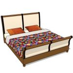 Indonesian teak bed