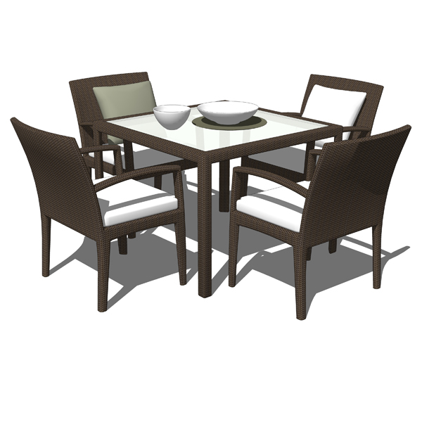 Dedon´s Panama synthetic wicker dining sets.....