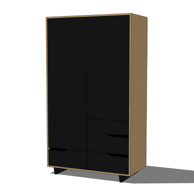 Solid wood wardrobe from the IKEA Mandal series. I....