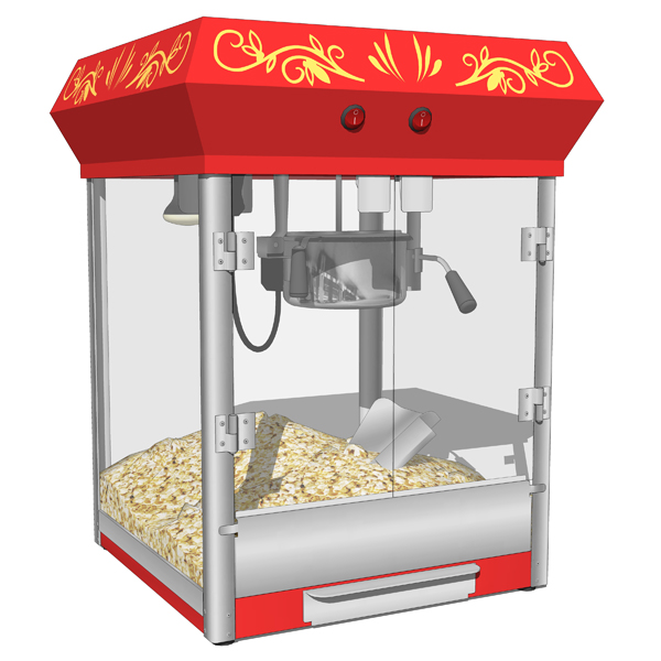 4 different types of Popcorn machines..