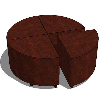 Hudson triangular leather ottoman.