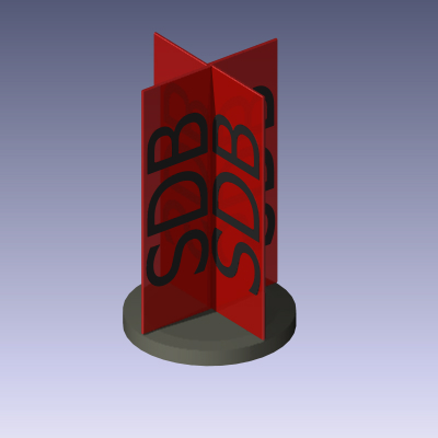 Parametric spinning sign object for ArchiCAD. This....