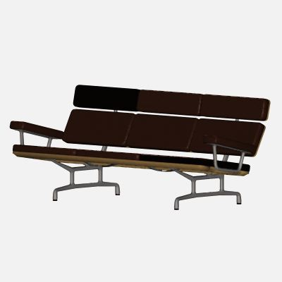 Scale object of a Charles & Ray Eames sofa, fo....