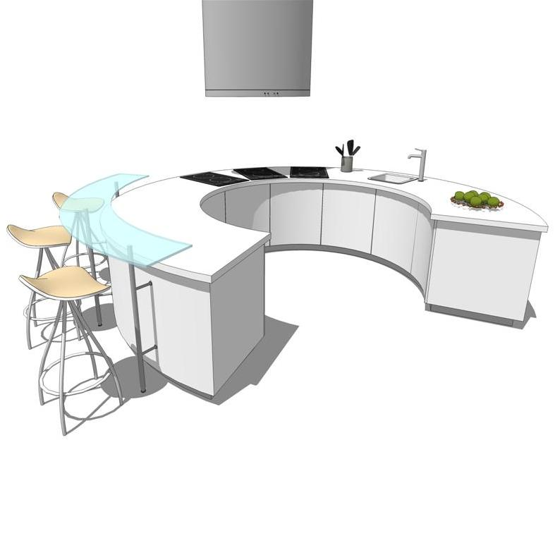 Pedini Artuk Kitchens. Stools not included but can....