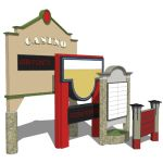 Entrance signs for shopping centers, residential s...