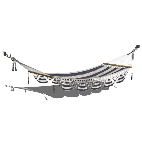 Photorealistic traditional hammock in two configur....