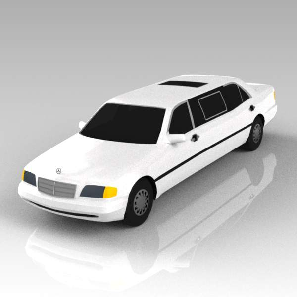 Mercedes stretched limousine.