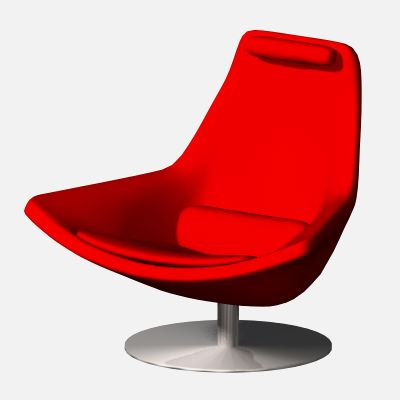 Scale object of a designer lounge 