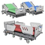 Hospital Bed in three different positions.