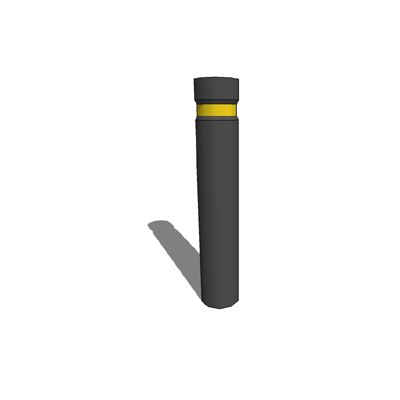 Steel bollard - 140mm dia. x 770mm tall.