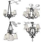 Wrought iron ceiling lamp