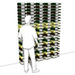 Horizontal Wine Bottle Display and Storage Rack. M...