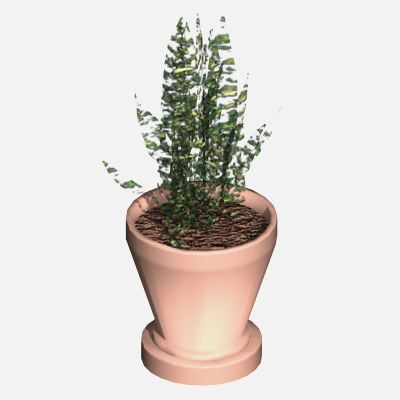 GDL object of a Pot plant, for ArchiCAD. All 