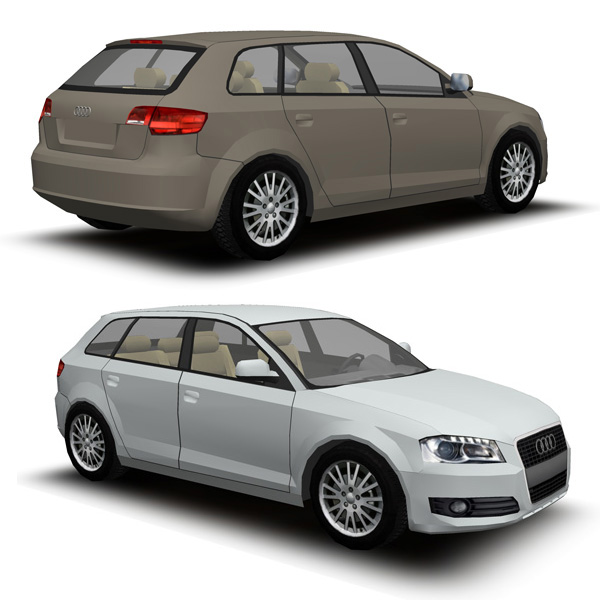 Two configurations for the Audi A3 Hatchback..