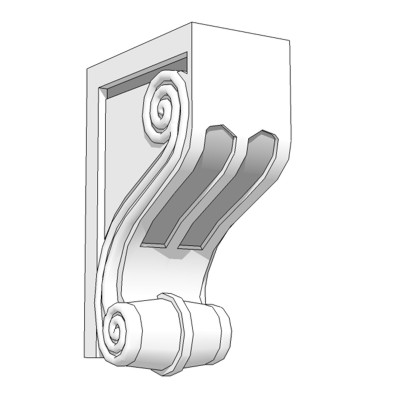 Architectural Corbel or Bracket protrudes from wal....