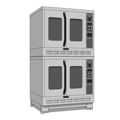 Commercial Kitchen Dual Oven unit. Based on M2 by ....