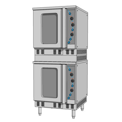 Commercial kitchen convection oven modeled after M....