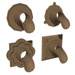 These decorative bronze drain nozzles can be used ...