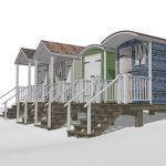 Beach huts make a great base for a family on a bea...