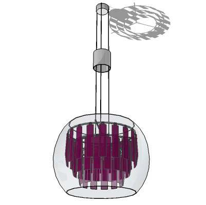 Plaza S fluorescent pendant by Rossetti/Global Lig....