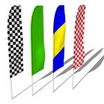 Swooper flags are used for high visibility for any...