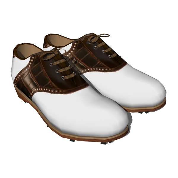 Three fully textured Golf shoes..