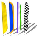 Feather flags are used for high visibility for any...