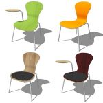 Knoll Sprite Chairs offered in 4 variations.