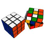 High-Poly Rubik's Cube, in two configurations.