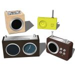 4 different radios by Lexon. Configurations includ...
