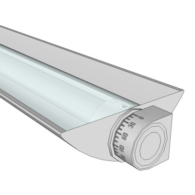 VODE QUE Rail Fixture With Lenses in 24, 36, 48 an....