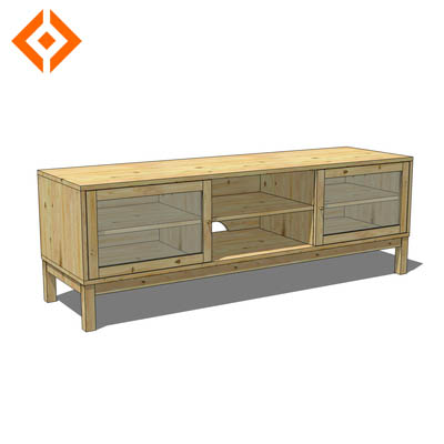 Linnarp TV bench from IKEA. Solid wood will hold u....