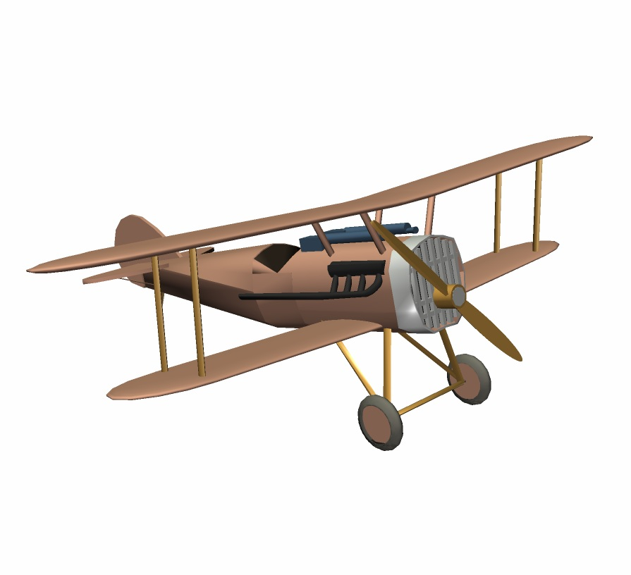 World War I Scout Plane 3D Model - FormFonts 3D Models