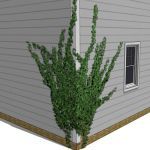 Low poly ivy component, wrapping around a corner. ...