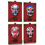 Chinese opera mask-colour of base ,hanger and 4 co...