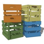 Playful wood crates for kids storage or just about...