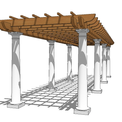 Pergola for walk or pathway. Approx 20' / 6m long.