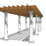 Pergola for walk or pathway. Approx 20' / 6m long