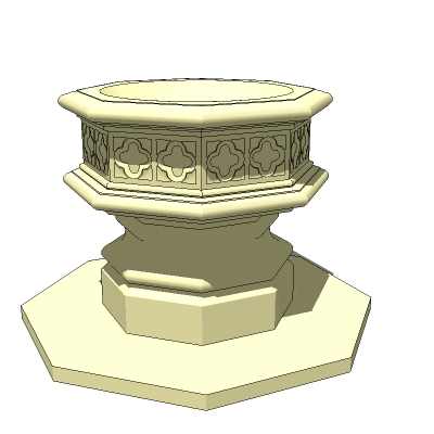 Gothic style stone fountain. Version with water is....