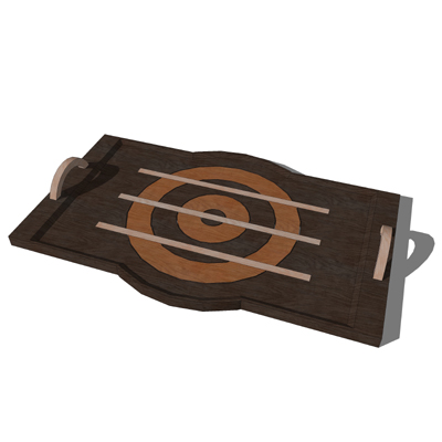 Set of wood serving trays..