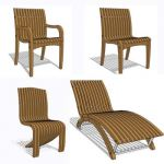 Collection of Indonesian teak  chair/recliner
