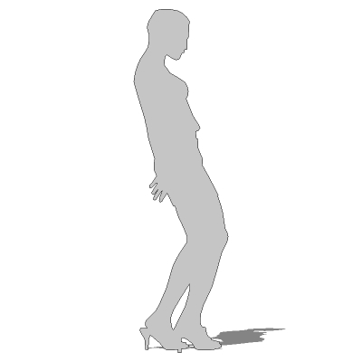 SketchUp 2D Face Me silhouettes..