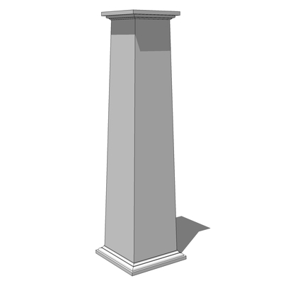 Square, tapered columns, with smooth faces and sta....
