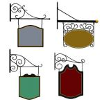 Set of four traditional wrought iron signs for her...