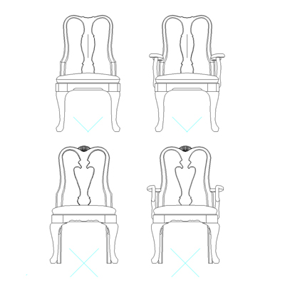 Superb Traditional Dining Chairs 3D Model Formfonts 3D Models Squirreltailoven Fun Painted Chair Ideas Images Squirreltailovenorg
