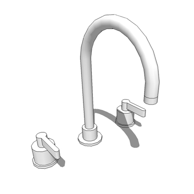 'Silver' basin deck mixer designed by David Chippe....