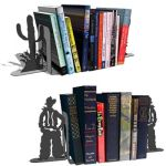 Catus and cowboy book end