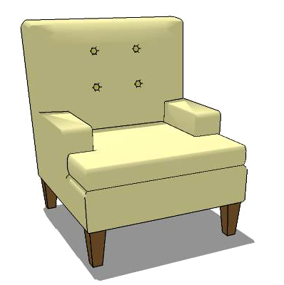 Gallinger armchair with ottoman.