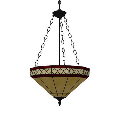 A traditional leaded glass ceiling pendant. Suitab....